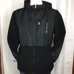 Women's Free Country Black Hooded Jacket Sz M